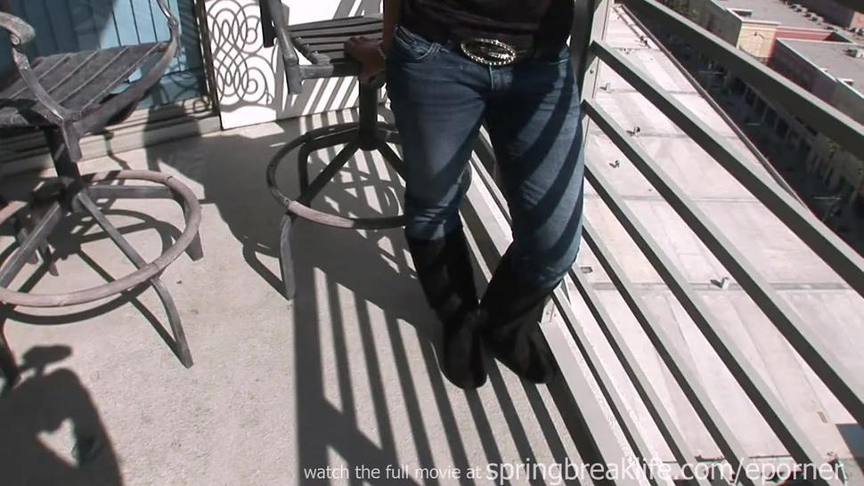 Hot Latina Flashing In Public