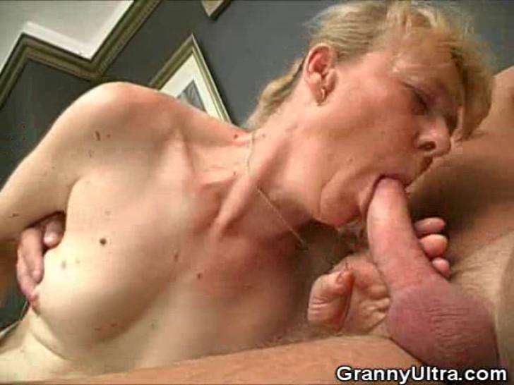 GRANNY ULTRA - Hairy Granny Cock Sucks And Gets Fucked