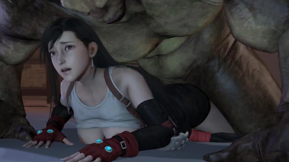 Final Fantasy Hentai - Tifa get fucked by a huge dick (with Sounds)