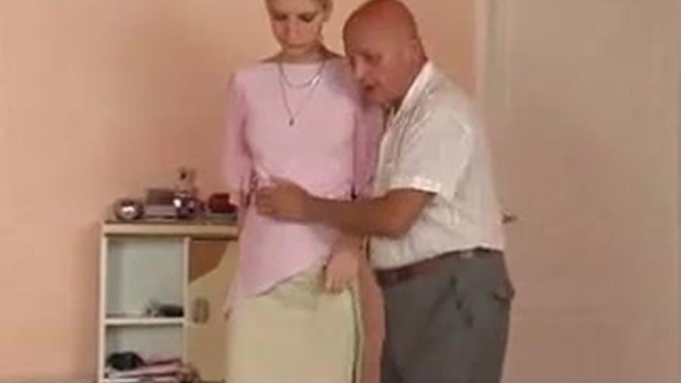 Tiny Blonde Girl Fucked By 2 Old Men