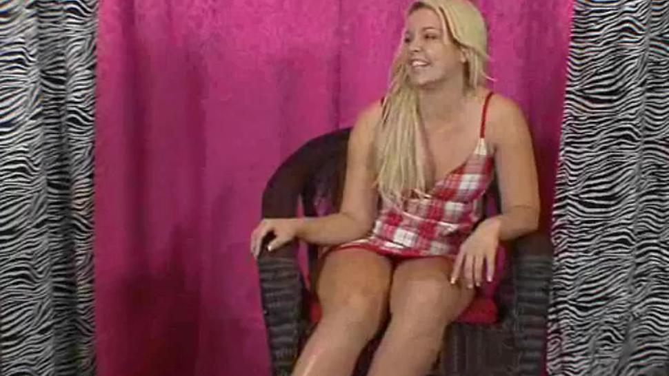 chubby blonde gets spanked otk in front of boyfriend