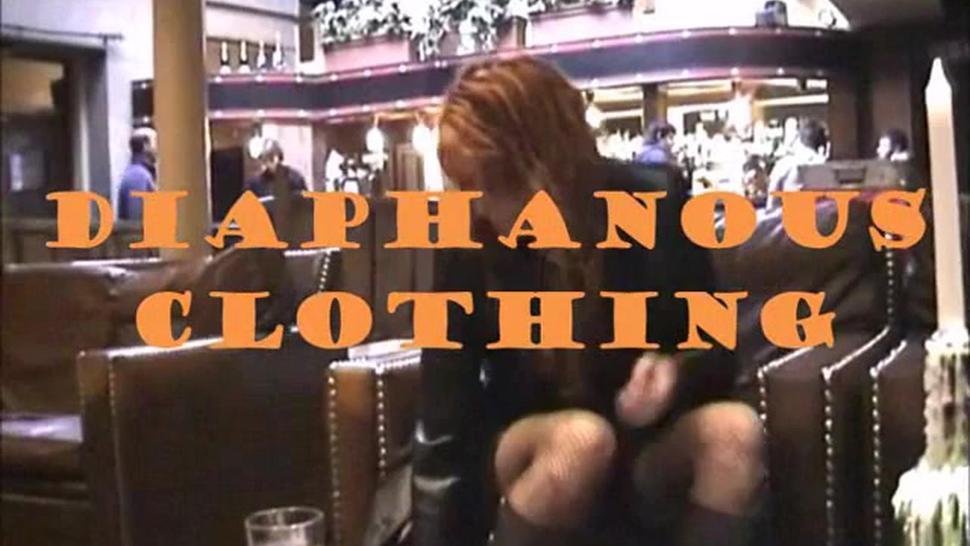 Lily ( English Lady) public slut diaphanous clothing