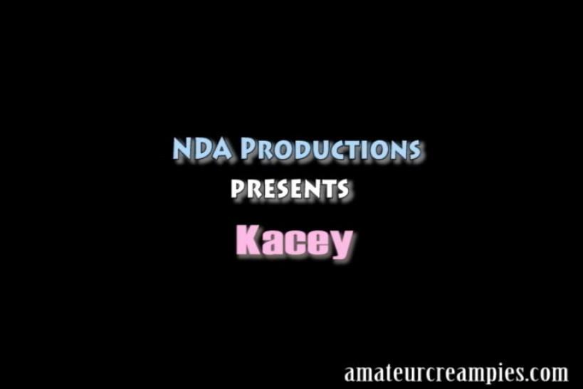 AMATEUR CREAMPIES - Kacey Kox gets her first creampie
