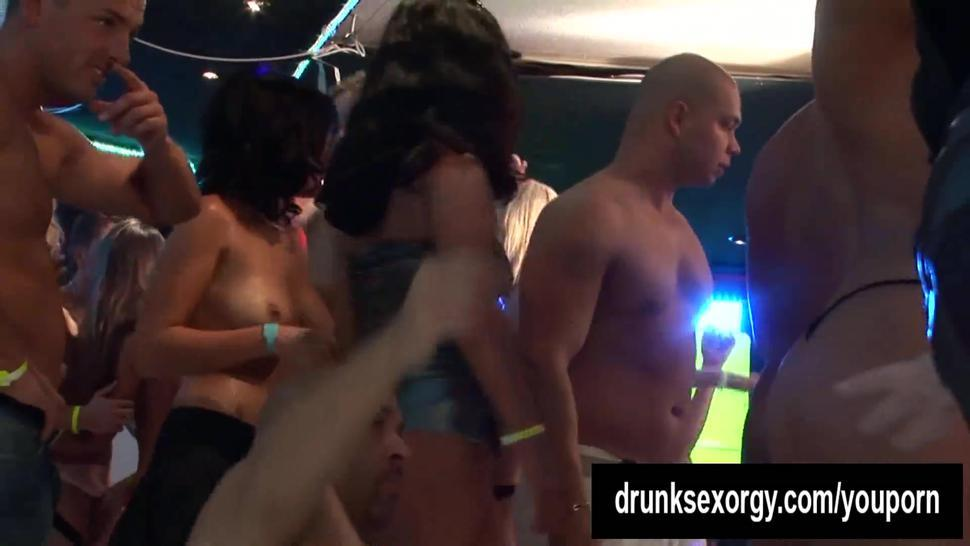 Wet babes dancing at screw party