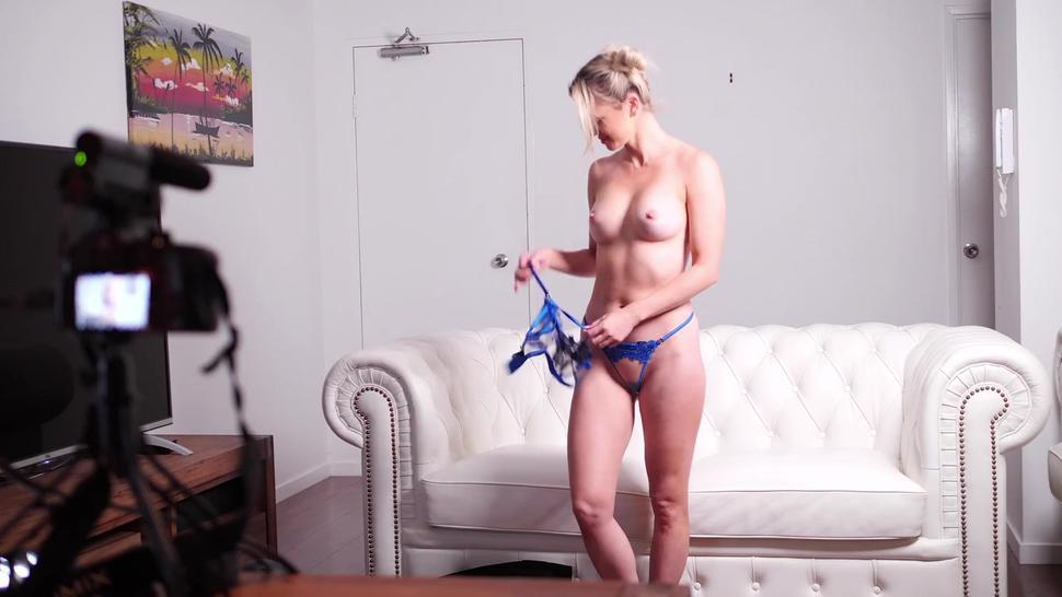 Shy English Girl on Casting Couch goes OFF in Porn Audition with Aussie Agent