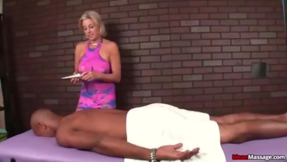 Beautiful blonde Milf giving sexy smokey handjob