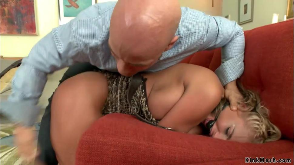 Busty MILF cheating wife bound banged
