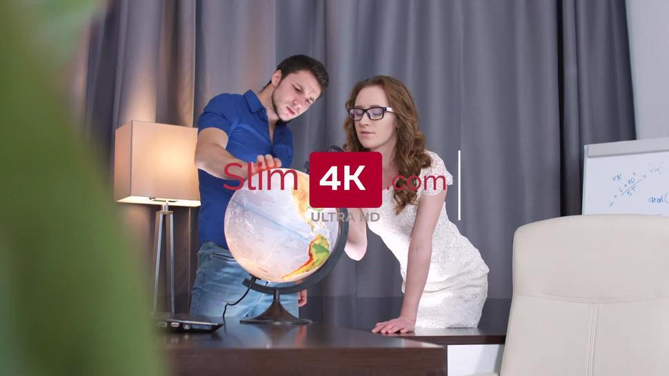 Slim4K - Elin Holm with a perky butt and small breasts gets creampied