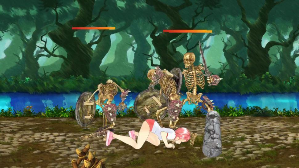 Fighting Girl Sakura Gameplay: Stage 3 (Ryona)