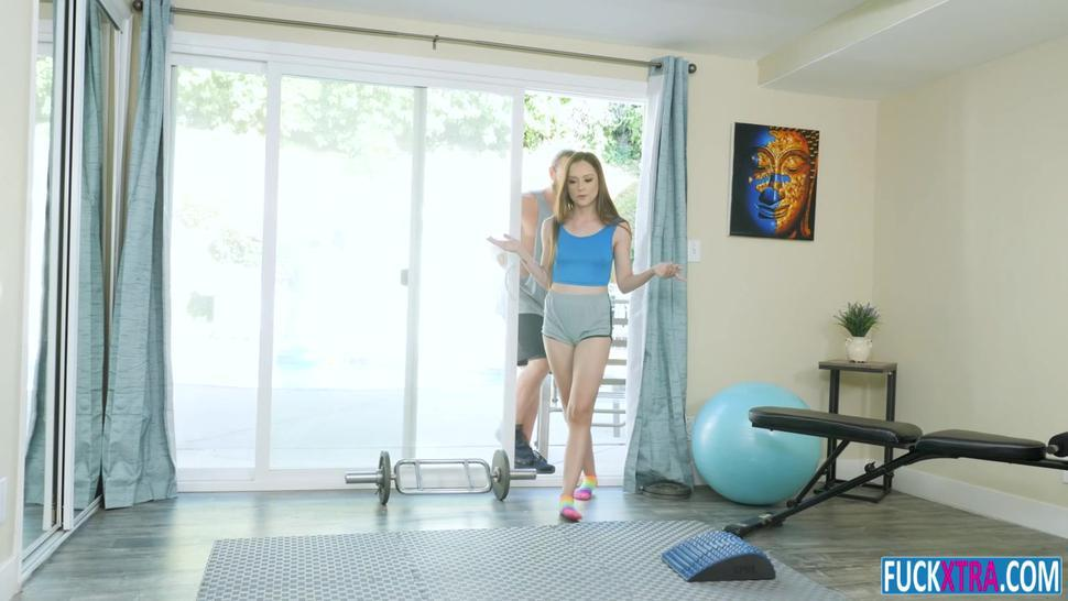 Lily Glee Petite Workout Out With Neighbor.mp4