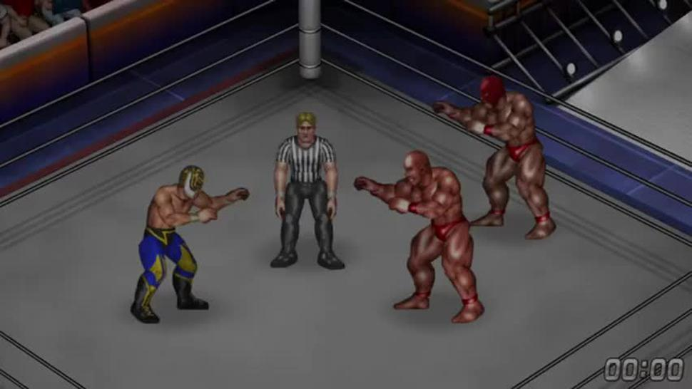 Fire Pro Wrestling World - Gyaku Male Ryona - Giant Brothers vs Tiger Mask