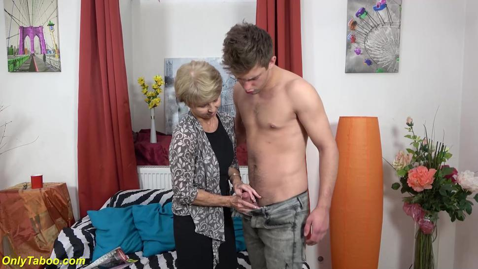 ONLYTABOO - skinny 75 years old mom loves toyboy
