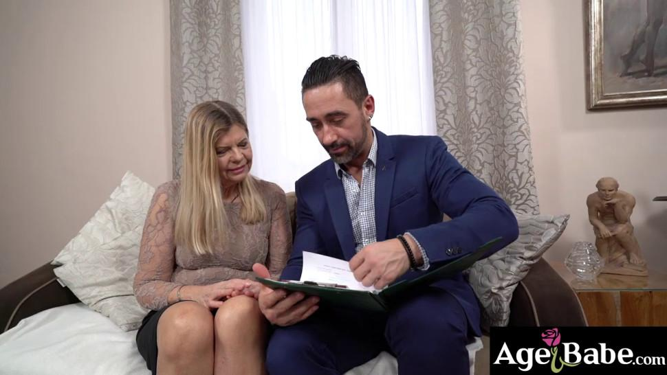 Lusty granny Samantha wants to take good care of young Mugur