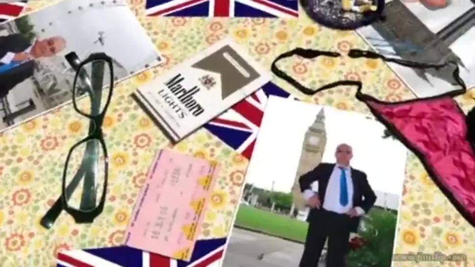 Young British MILF fucking an old man