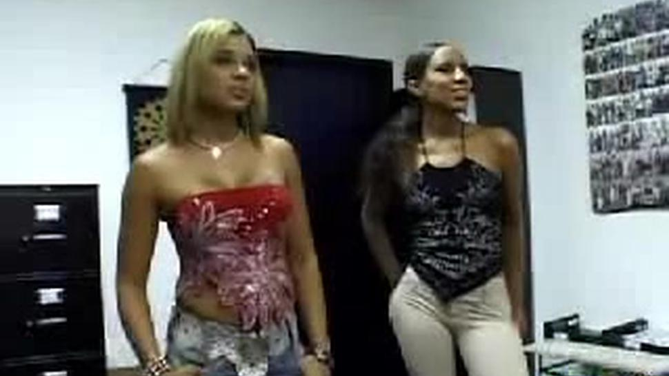 Hot Ebony Sisters Doing A Sexy Lesbian Action
