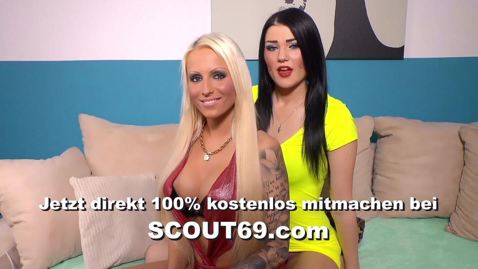 SCOUT69 - Candid Slim German Teen in Red Lingerie get Rough Fuck