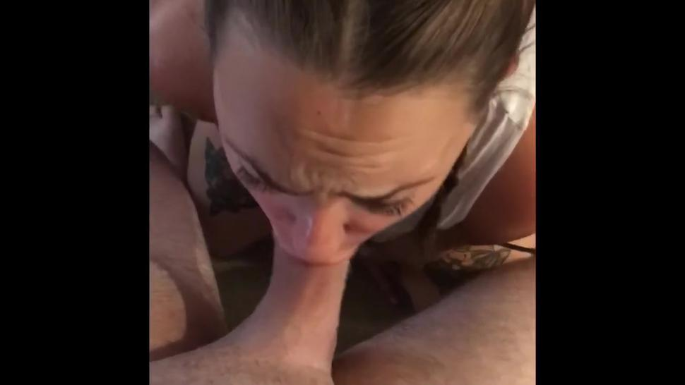 Sucking His Cock Before He Goes Home To His Girlfriend