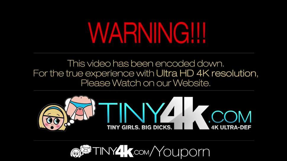 4K HD - Tiny4K Petite Red Riding Hood rides a huge dick for Halloween