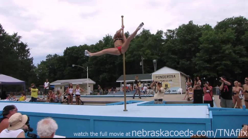 NEBRASKACOEDS - stripper pole dancing party