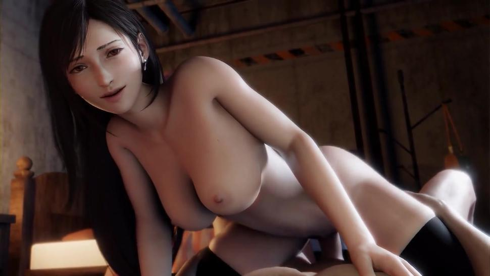 FINAL FANTASY VII REMAKE - TIFA LOCKHEART GIVES YOU LOVE IN DIFFERENT OUTFITS SFM POV PORN