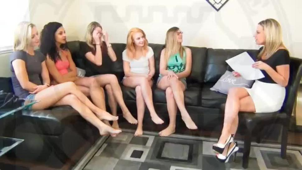 5 girls hypnotized to orgasm - lady hypnotist