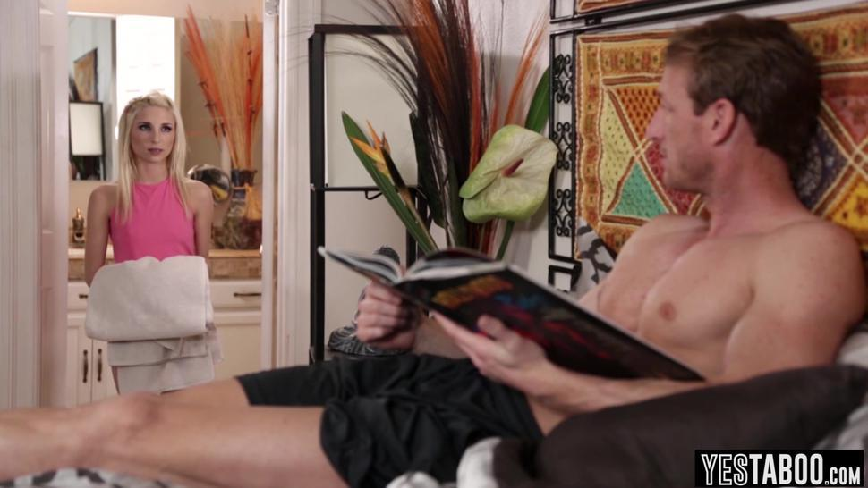 Horny old stepdad just cant resist Piper Perrys used panties