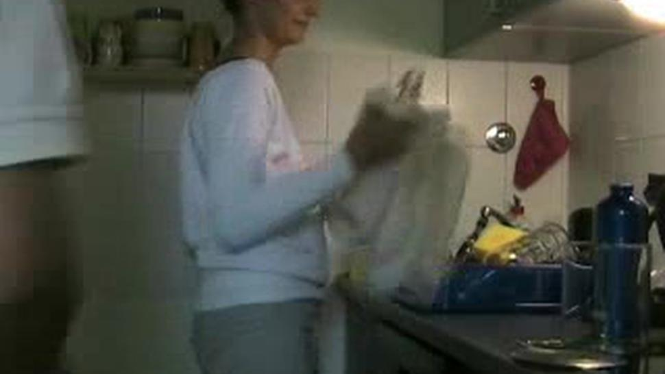 House Wife Gets Fucked In Kitchen