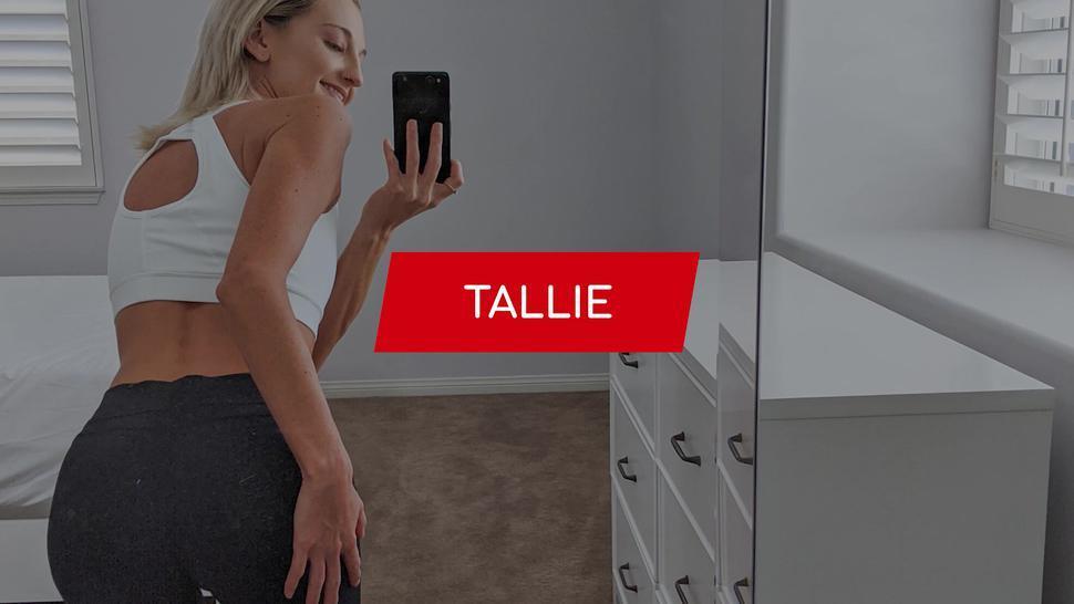 FIT18 - Tallie Lorain - Casting Under 100lb Super Skinny Blonde For Fitness Shoot - 60FPS