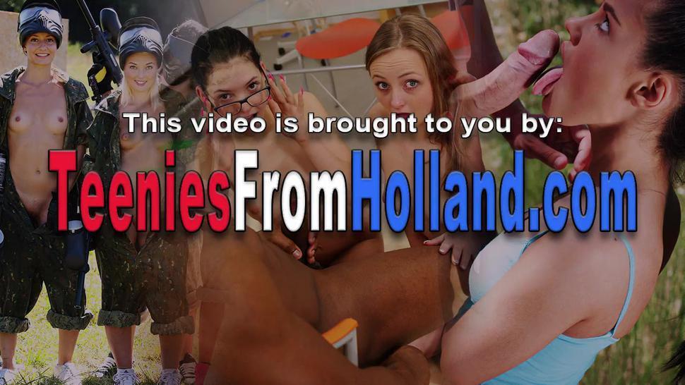 Fucked Dutch Teen Brunette Sucks Dick
