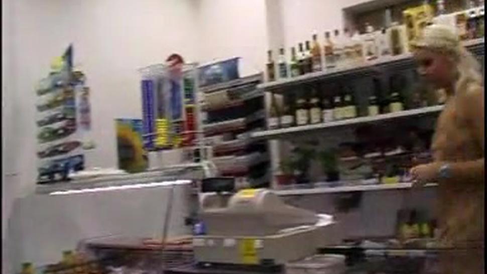 Hot Blond Store Clerk