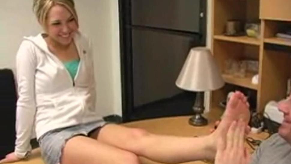 Girl Foot Licked