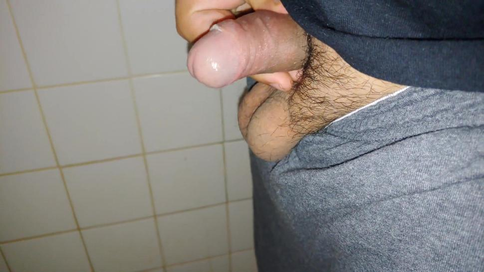 Horny Virgin Latino Cant Help But Cum After Taking A Piss