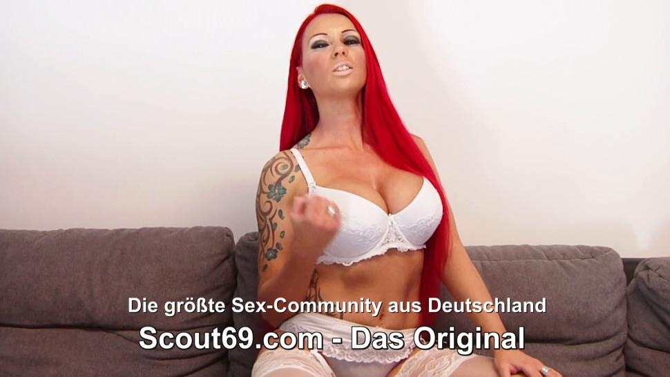 SCOUT69 - German Teen Meli Deluxe First Threesome with BF and Stranger