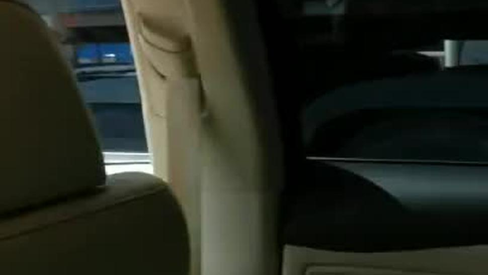 South African Chick Blowing Me Behind Uber Driver