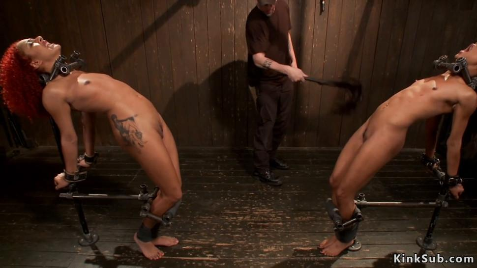 Lesbians tormented in device bondage