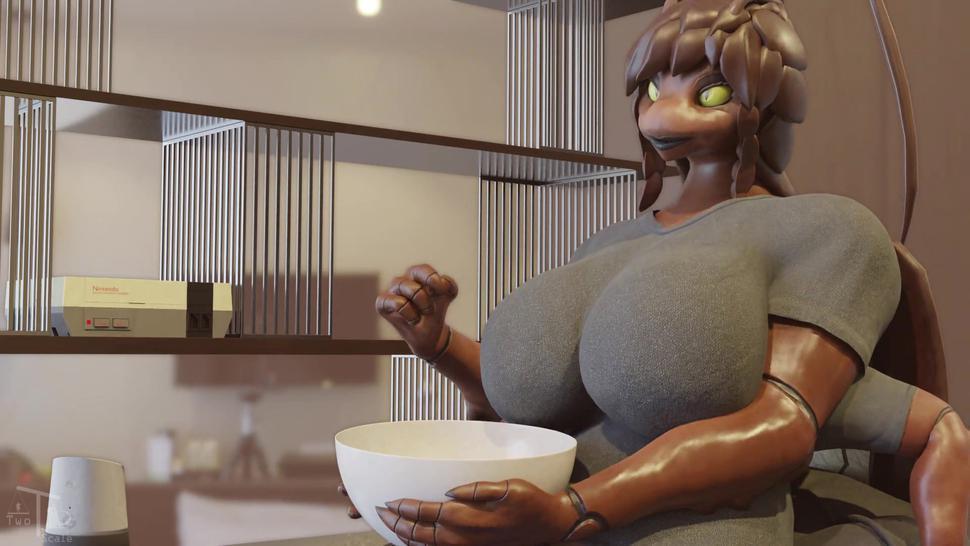 Moon Munching - Furry Giantess Macro Vore Animation