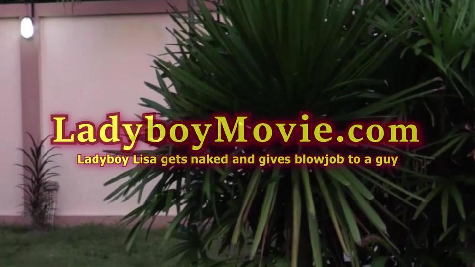 Luxurious Ladyboy Lisa Gives Blowjob
