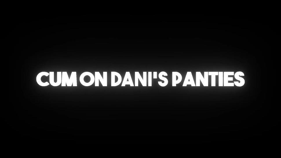Cum Blasted Shiny Purple Panties! - Cum On Dani's Panties
