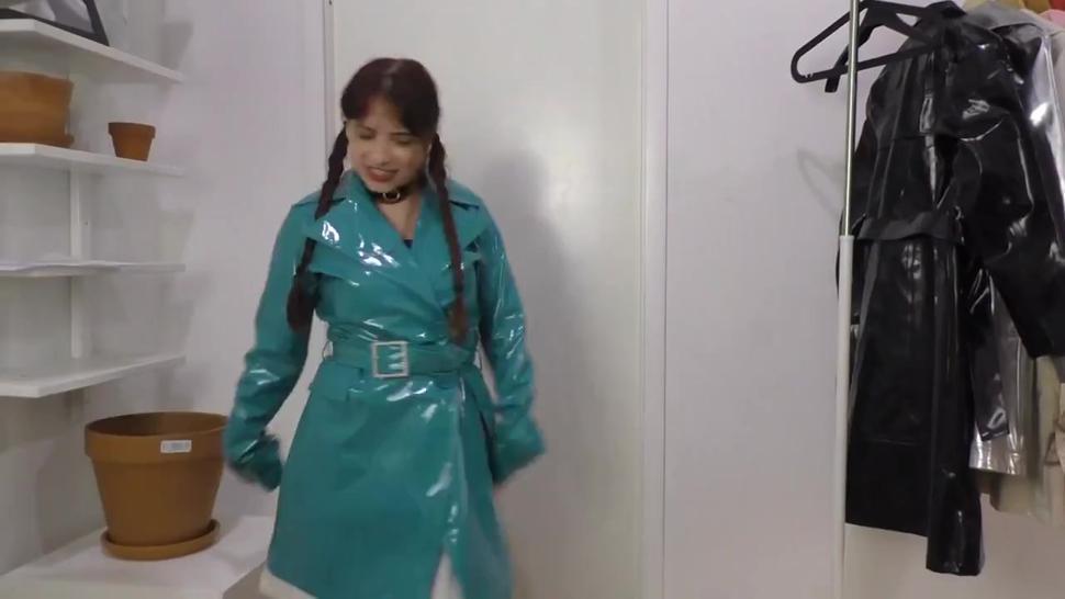Angry girl wears straitjacket