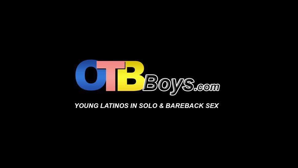 OTB BOYS - Smooth Latino gets kinky footjob and hot anal stretching
