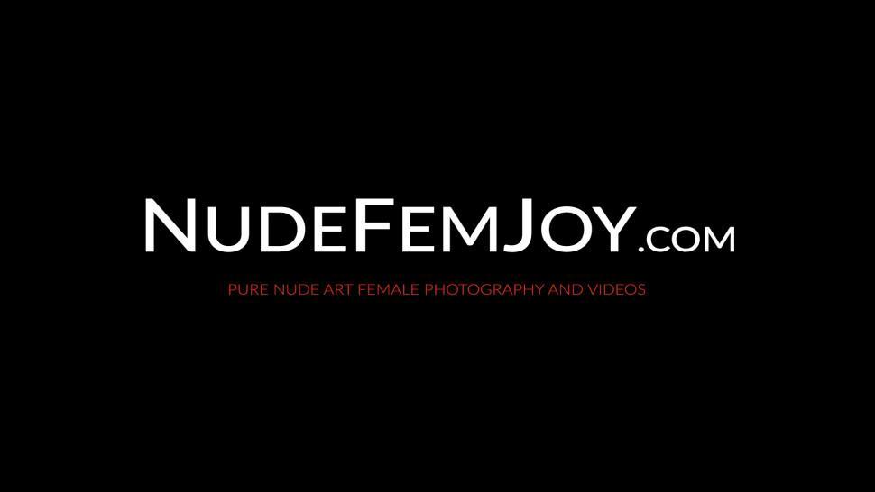 NUDE FEMJOY - Erotic nubile babe Niemira feels her big tits while teasing