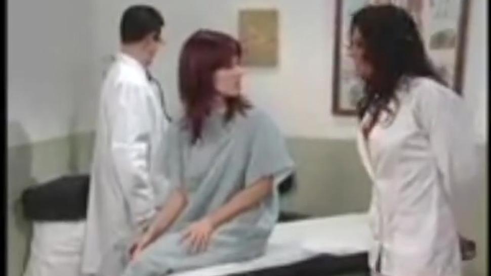 bondage medical exam by doctor and nurse