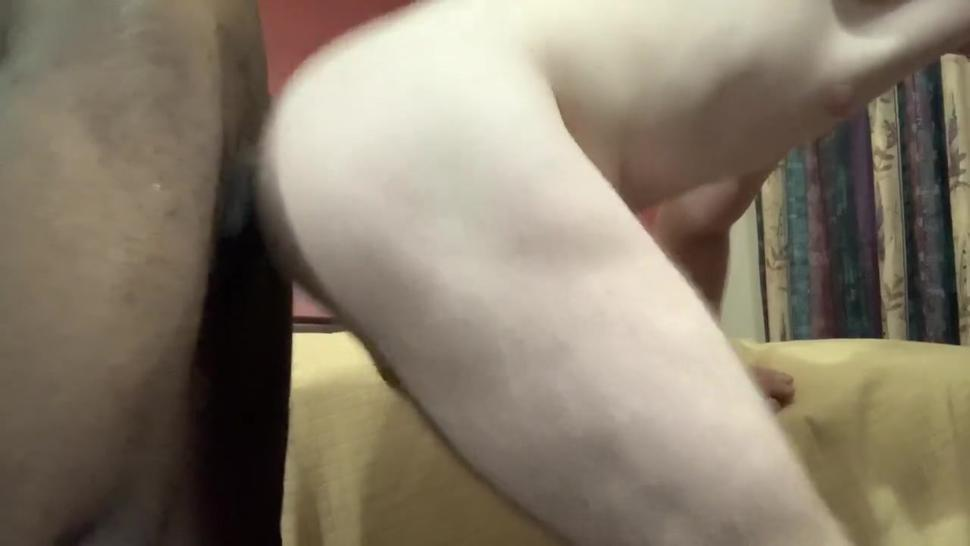9 Inch BBC pounds 20 year old raw *creampie*