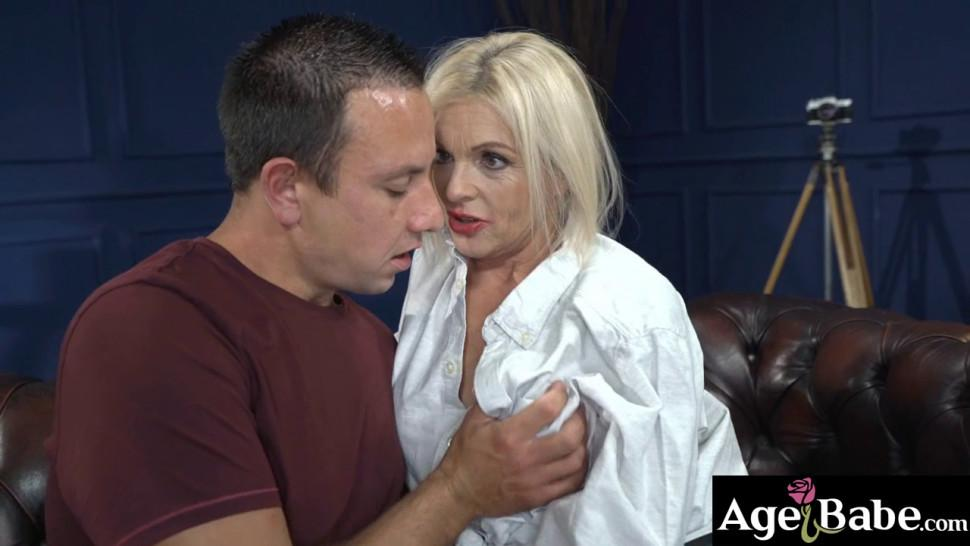 Franny is a horny granny who sucks and bangs Rob after a few lessons from her