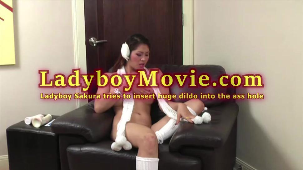 Kinky Ladyboy Sakura And Her Huge Dildo