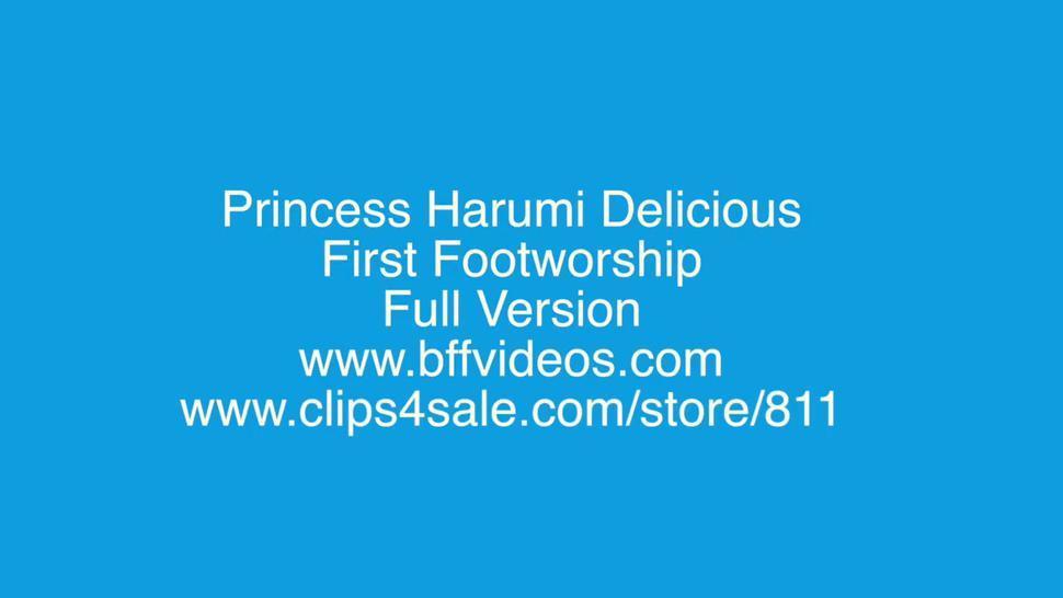 Princess Harumi Delicious First Foot Worship