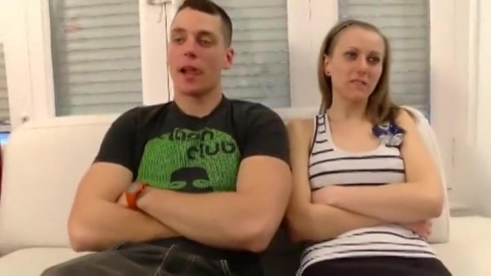 Spanish blonde sucks and fucks on camera