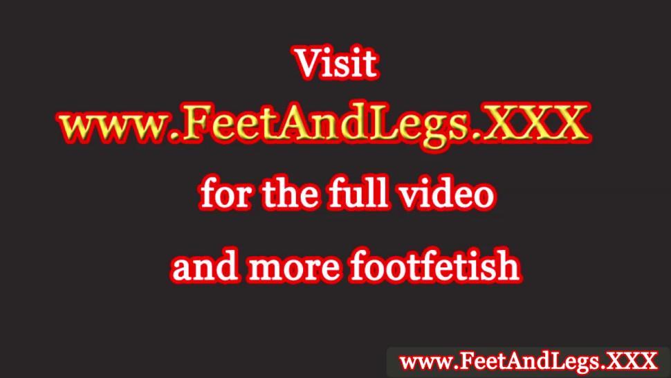 HOT LEGS AND FEET - Kathia Nobili has her feet worshipped