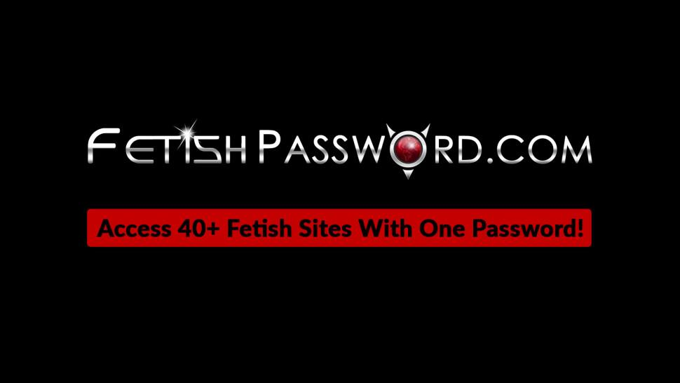 FETISH PASSWORD - Ginger Rose Red hammered by plastic dick domina