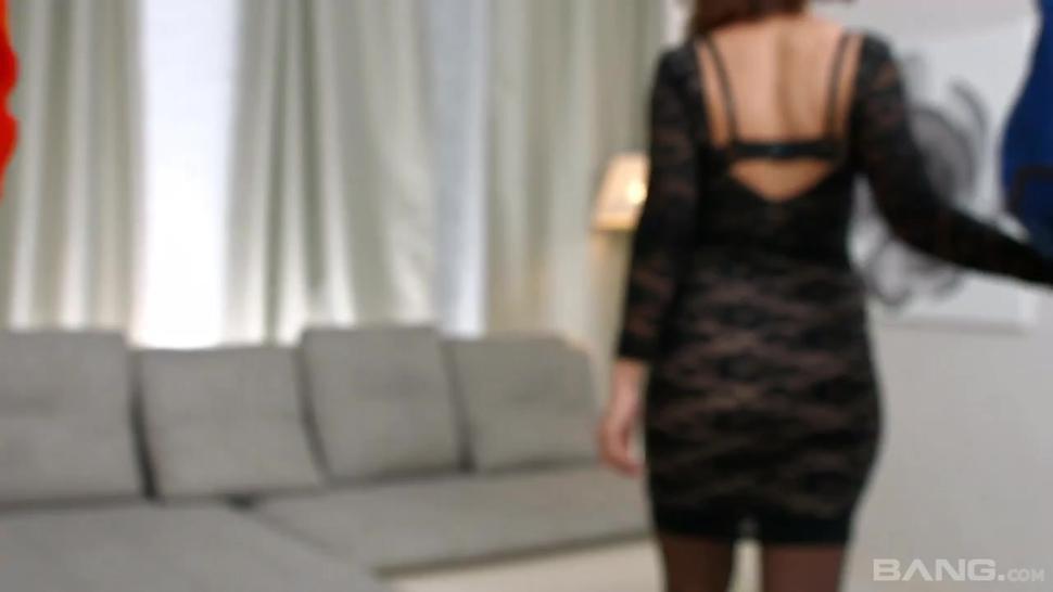 BANG.com - Emma Brown let she bf admire her stockings before she fucks him